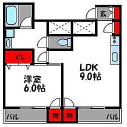 アーバン松島[3階]の間取り