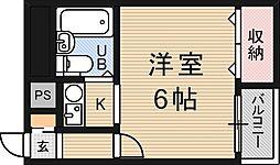 スリーデイズ新大阪[3階]の間取り