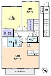 千葉県船橋市南三咲3丁目の賃貸アパートの間取り