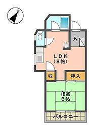 愛知県名古屋市名東区平和が丘3の賃貸マンションの間取り