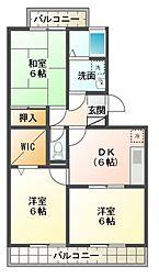 ランドウィン 五番館[2階]の間取り