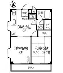 神奈川県横浜市泉区和泉中央北の賃貸マンションの間取り
