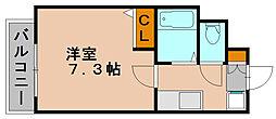 ラフォーレ博多駅前[9階]の間取り
