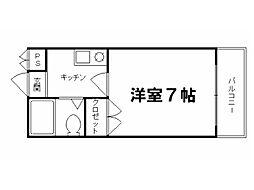 ロイヤルコーポ紫野2[3階]の間取り
