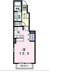 JR東北本線 郡山駅 バス20分 向屋敷下車 徒歩6分の賃貸アパート 1階1Kの間取り