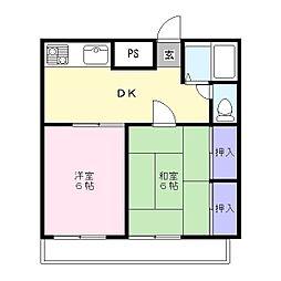 松江マンション[2階]の間取り
