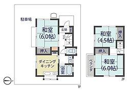 [一戸建] 埼玉県草加市清門3丁目 の賃貸【/】の間取り