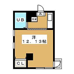 木村屋ビル[4階]の間取り