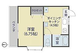 田川ハイツ2[2階]の間取り