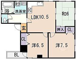 Asano Heights[3階]の間取り