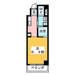 ワイズタワー新栄[2階]の間取り