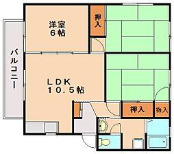 ゆきハイツA[1階]の間取り