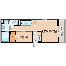 JR東海道本線 静岡駅 徒歩8分の賃貸マンション 1階1LDKの間取り