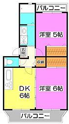 ドミールウチダ[2階]の間取り