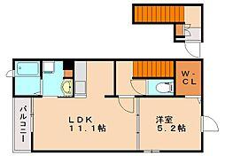 リガールB[2階]の間取り