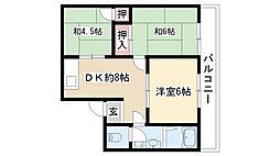 愛知県名古屋市南区白雲町の賃貸マンションの間取り