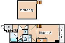 兵庫県神戸市長田区水笠通3丁目の賃貸マンションの間取り