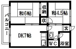 シティハイムワタナベ[1C号室]の間取り