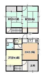 [一戸建] 岡山県岡山市北区三門西町 の賃貸【/】の間取り