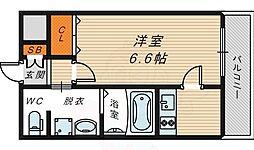 JR大阪環状線 京橋駅 徒歩8分の賃貸マンション 3階1Kの間取り