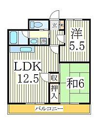 鈴喜マンション[1階]の間取り