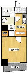 モトサウンドビル 8階1Kの間取り