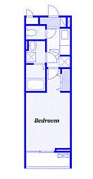 JR高崎線 上尾駅 徒歩15分の賃貸アパート 1階1Kの間取り