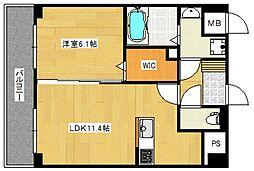 グランシャリオ諏訪野[8階]の間取り