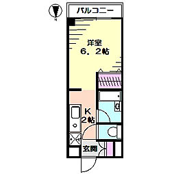 ガーデン下フォレスト[2階]の間取り