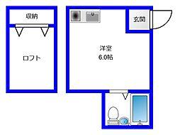 東京都練馬区氷川台4丁目の賃貸アパートの間取り
