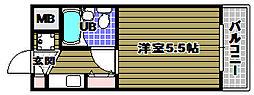 吉祥長野ハイツ[2階]の間取り