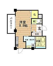 ラシーネ・梅田WEST[2階]の間取り