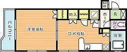 サンラビール小倉[715号室]の間取り