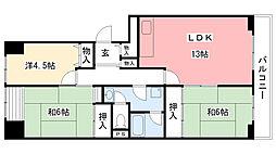 今津浜パークタウン13号(UR)[110号室]の間取り