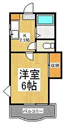 ホワイトキャッスル萩山[2階]の間取り