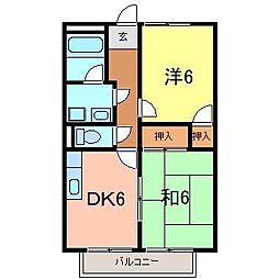 サープラスレスト高須B 刈谷市[201号室]の間取り