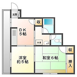 ニュー甲子園マンション[3階]の間取り