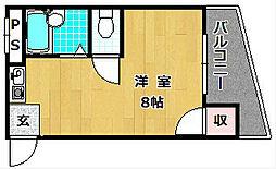 大阪府枚方市甲斐田町の賃貸マンションの間取り