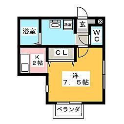 フォレスト・コート[1階]の間取り