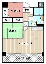 イエローマンション小倉[605号室]の間取り