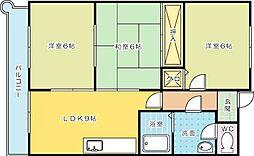 第10廣木興産ビル[402号室]の間取り