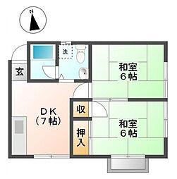 コープ加藤[2階]の間取り