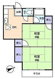 三咲グリーンハイツ[1階]の間取り