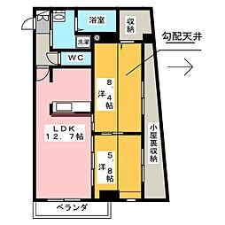 愛知県名古屋市千種区猫洞通4丁目の賃貸マンションの間取り