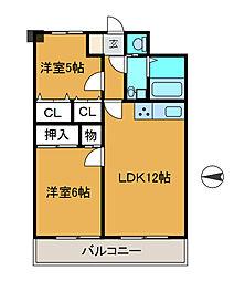 神奈川県相模原市南区相模大野8丁目の賃貸マンションの間取り