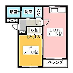 コーストライン[2階]の間取り