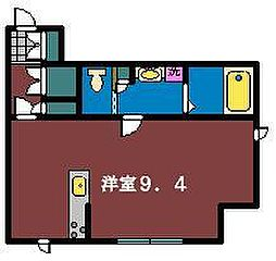 リビオン津田沼[101号室]の間取り
