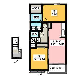 グランコートII[2階]の間取り