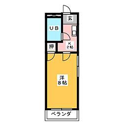 ベストハイツ三ツ井[3階]の間取り
