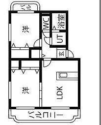 ユーミーリオプレットI[2階]の間取り